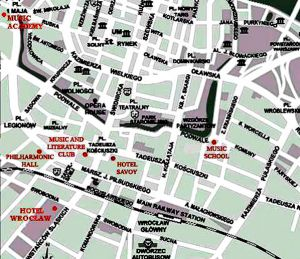 Wroclaw city centre map